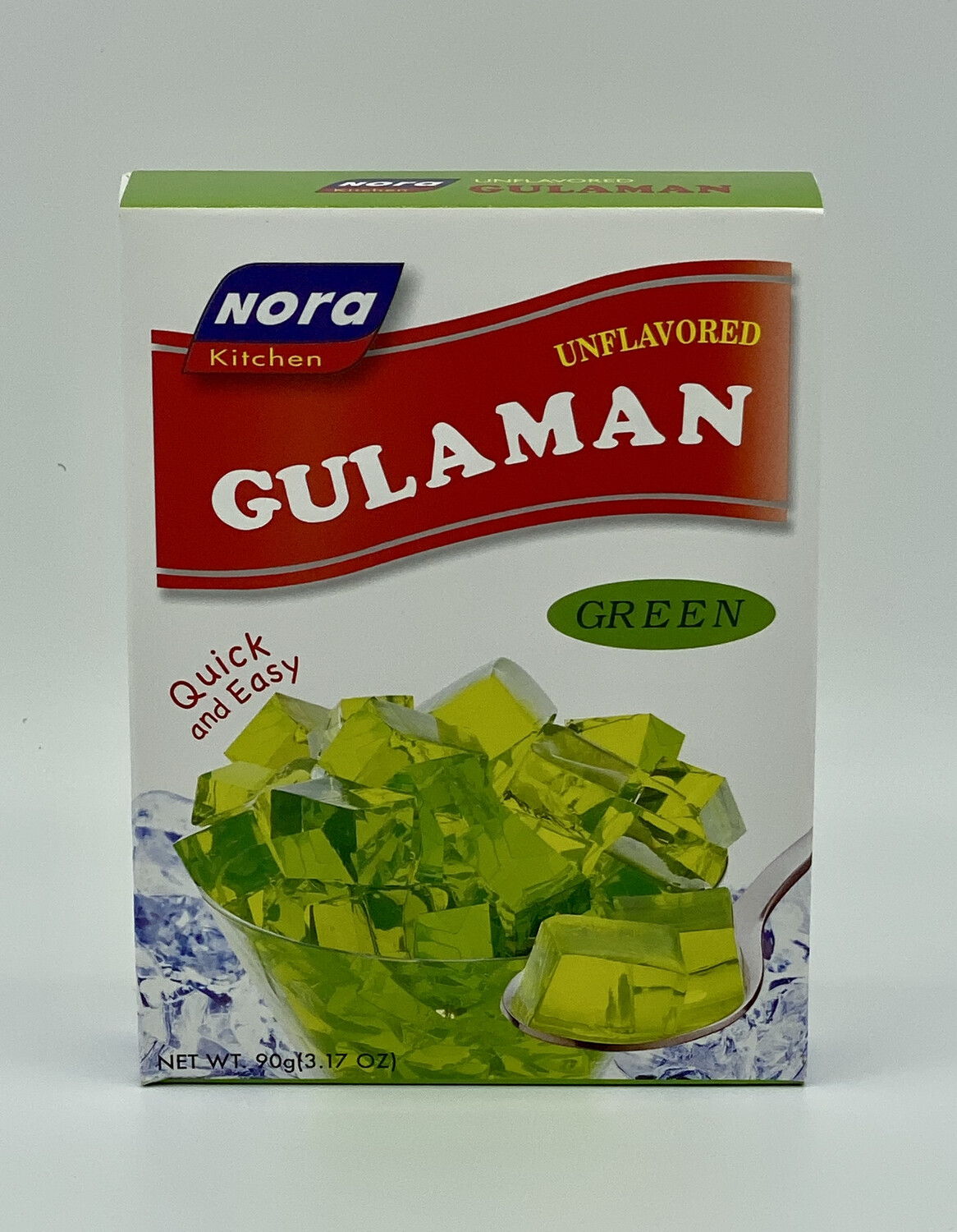 Nora Kitchen - Unflavored Gulaman Green- 90 Grams