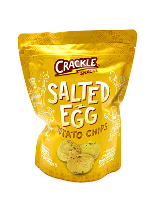 Crackle Snacks Salted Egg Potato Chips 70 Grams