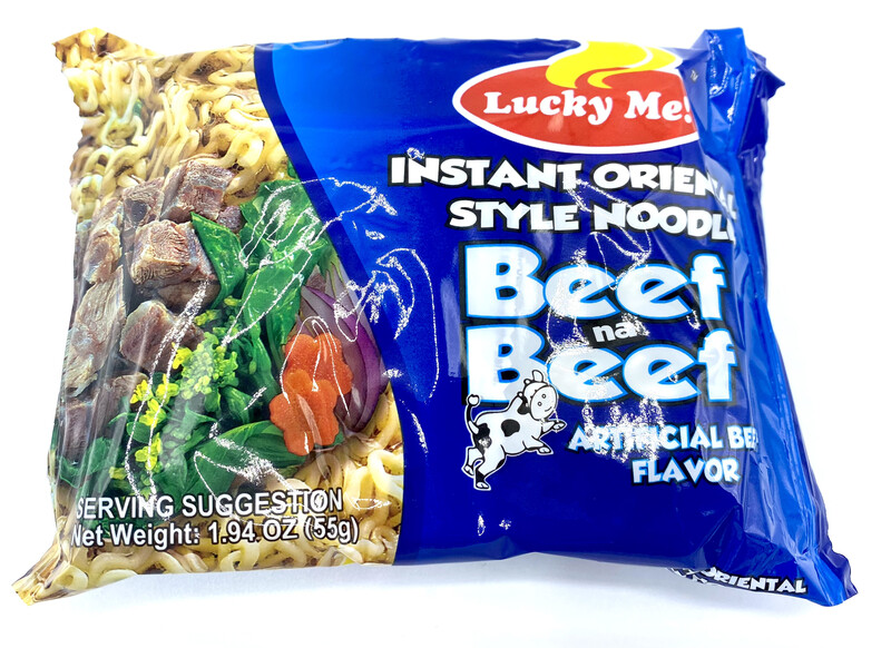 Lucky Me Instant Noodles Beef Flavor 1.94 Oz