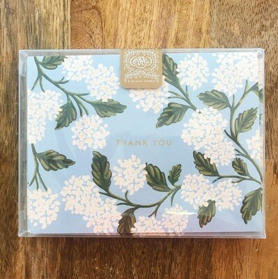 Rifle Paper Co. Cards Boxed Set Hydrangea Thank You