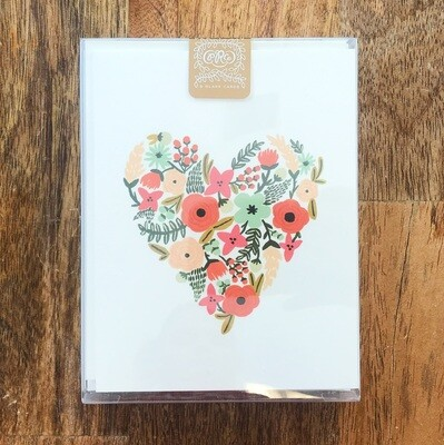 Rifle Paper Co. Cards Boxed Floral Heart