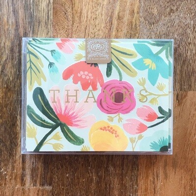 Rifle Paper Co. Cards Boxed Set Gold Floral Thank You
