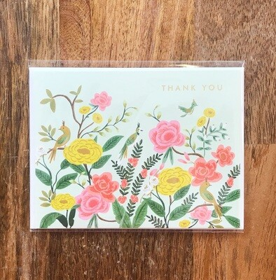 Rifle Paper Co. Card Thank You Shanghai Garden