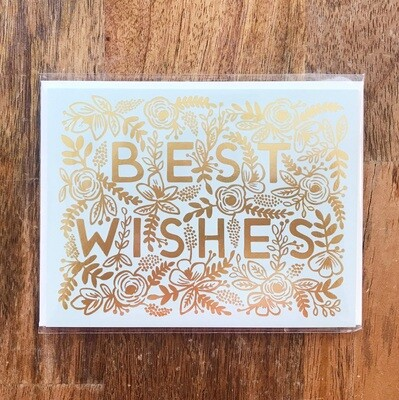 Rifle Paper Co. Card Best Wishes Gold
