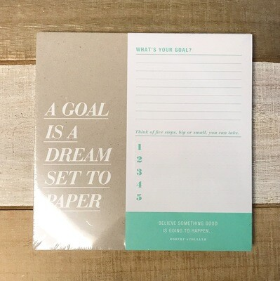 Planner A Goal Is A Dream Set To Paper