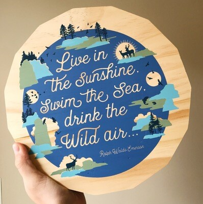 Wood Plaque Live In The Sunshine