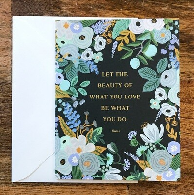 Rifle Paper Co. Card Rumi Quote
