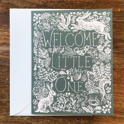 Rifle Paper Co. Card Welcome Little One Fable Baby Card