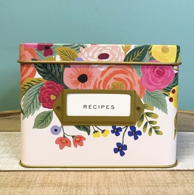 Rifle Paper Co. Recipe Box Juliet Rose