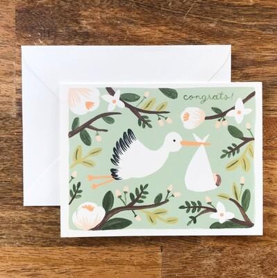 Rifle Paper Co. Card Congrats Stork