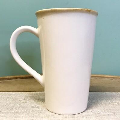 Mug With Tea Bag Slot White