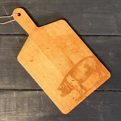 Cheese Board With Handle Pig