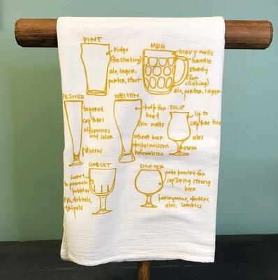 Tea Towel Beer Glassware