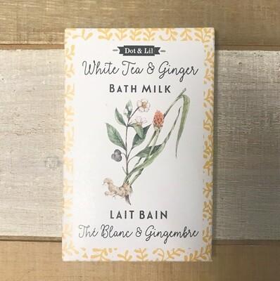 Dot & Lil White Tea And Ginger Bath Milk Sachet