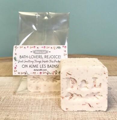 Dot & Lil Rice Flower Milk Bath Cube