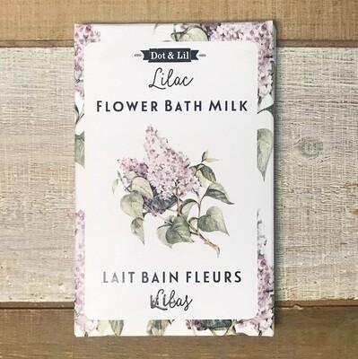 Dot & Lil Lilac Flower Bath Milk Sachet
