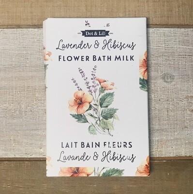 Dot & Lil Lavender And Hibiscus Flower Bath Milk Sachet