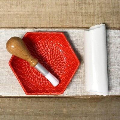 Grate Plate 3 Piece Set Red