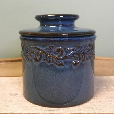 Butter Bell Crock Antique Denim Blue