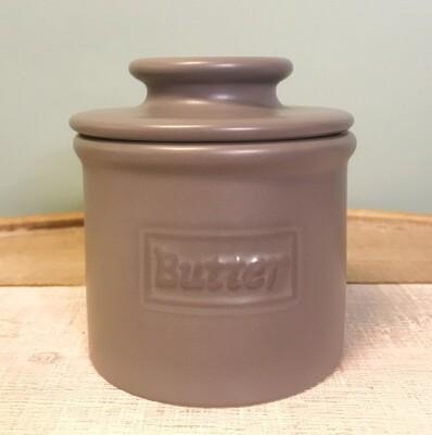 Butter Bell Crock Cafe Matte Gray