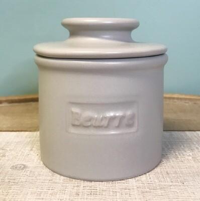 Butter Bell Crock Matte Stone