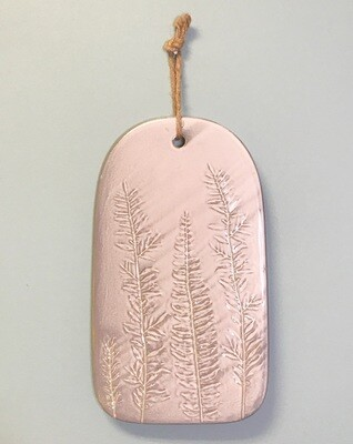 Stoneware With Fronds Imprint Small