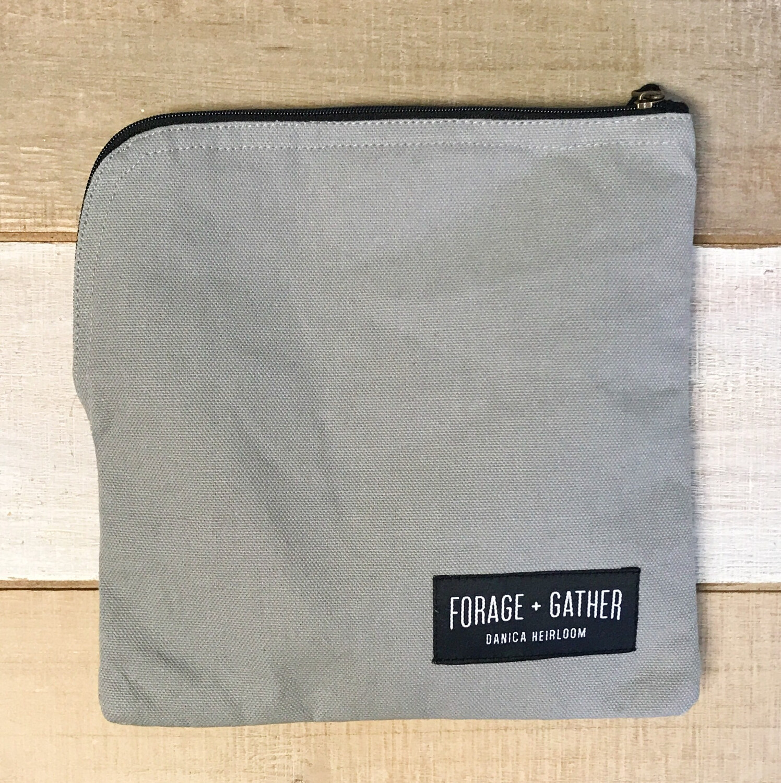 Forage & Gather Snack Bag Gray