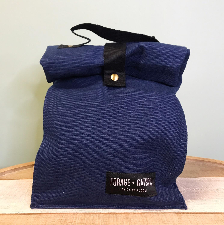 Forage & Gather Lunch Bag Blue