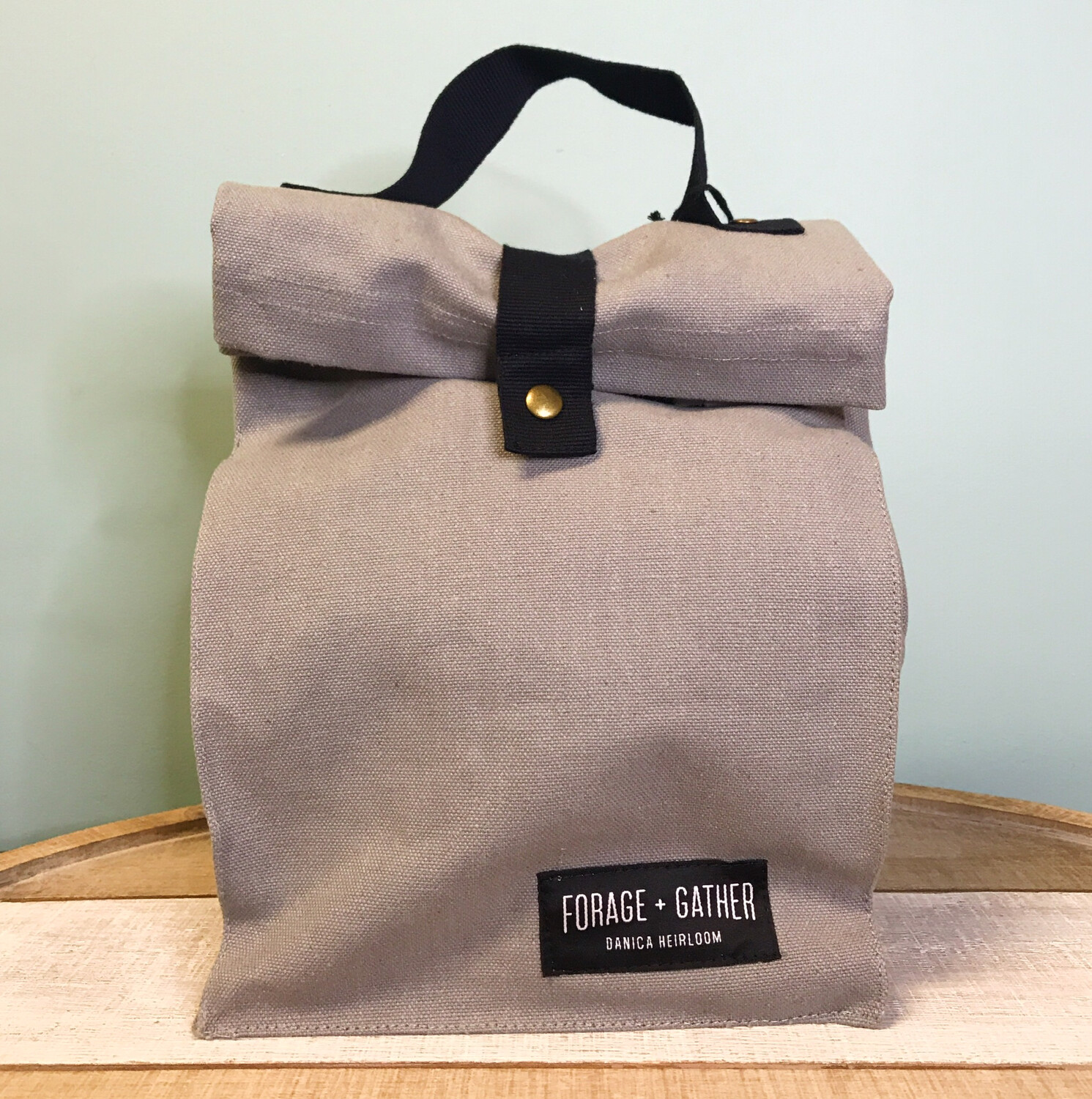 Forage & Gather Lunch Bag Gray