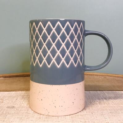 Slate Blue Etch Mug