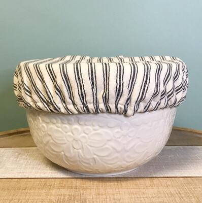 Bowl Cover Set Of 2 Ticking Stripe