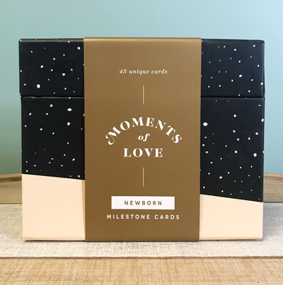 Moments Of Love: Newborn Milestone Cards