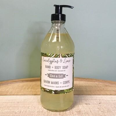 Dot & Lil Eucalyptus And Lime Liquid Soap