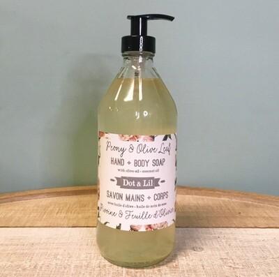 Dot & Lil Peony And Olive Leaf Liquid Soap