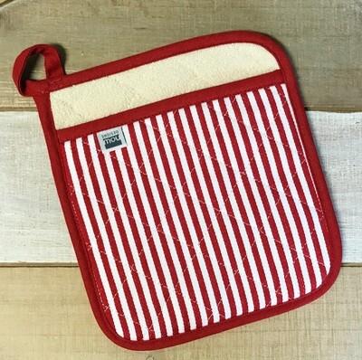 Pot Holder Superior Narrow Red Stripe