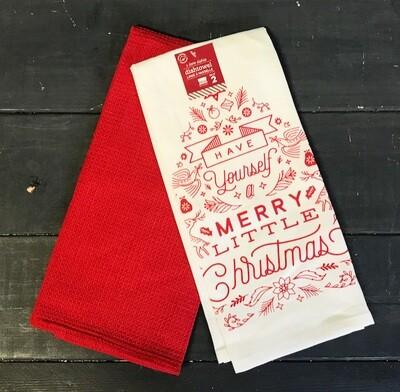 Towel Set/2 Merry Little Christmas