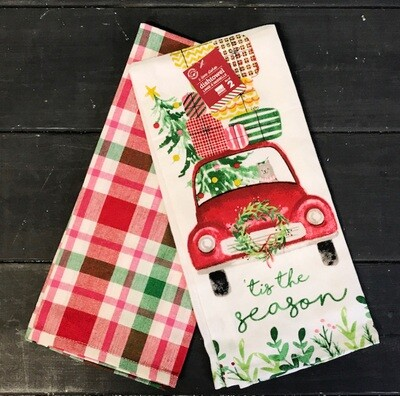 Towel Set/2 Winter Wheels