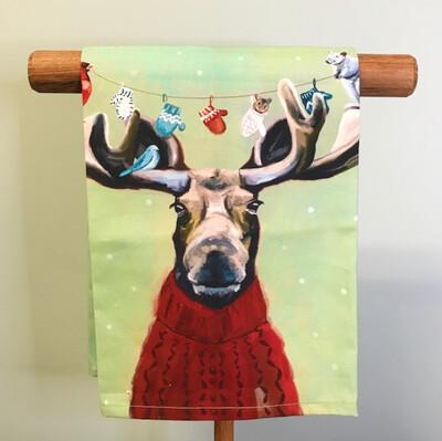Towel Moose in Sweater