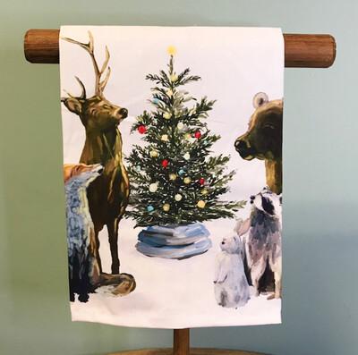 Christmas Carolers Tea Towel