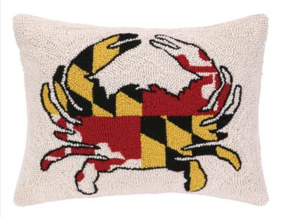Pillow Maryland Flag Crab 14x18