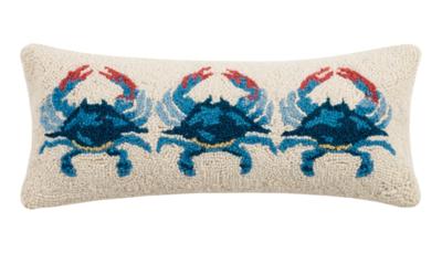 Lumbar Pillow Blue Crab 8x20