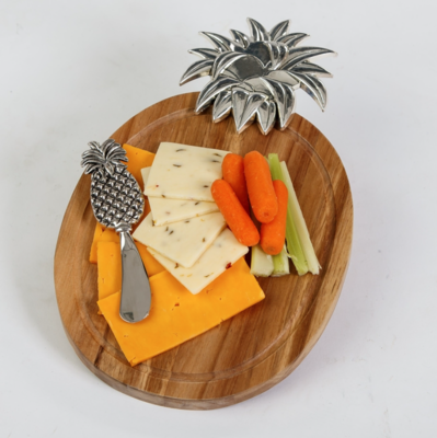 Pineapple Cheese Board With Spreader
