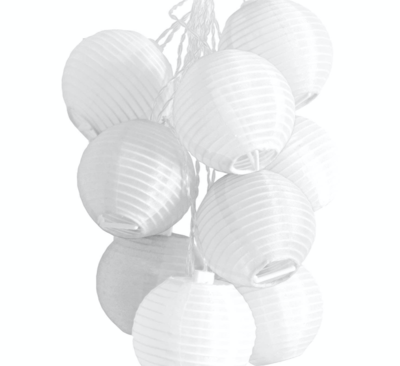 Glow Solar String Lights White 30'