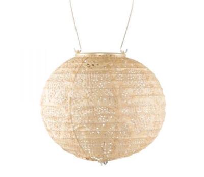 """Solar Lantern Stella Globe Pearl Wave Punch 8"""""""
