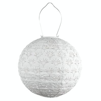 "Solar Lantern Stella Globe Deco White 12"""