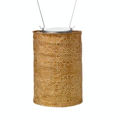 """Solar Lantern Stella Soji Cylinder Bronze 7"""""""