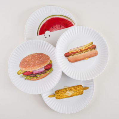 Melamine Picnic Plate Hamburger
