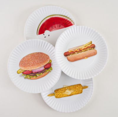 Melamine Picnic Plate Hot Dog