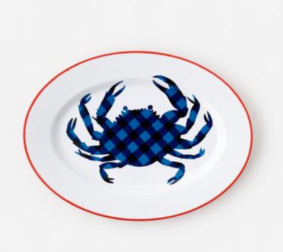 Enamel Crab Oval Platter