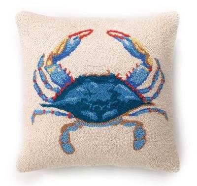 Pillow Blue Crab 16x16